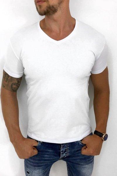 T-shirt biały gładki