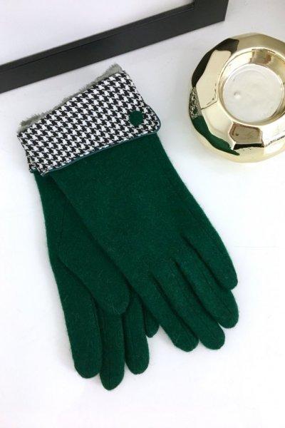 Rękawiczki zielone - pepitka