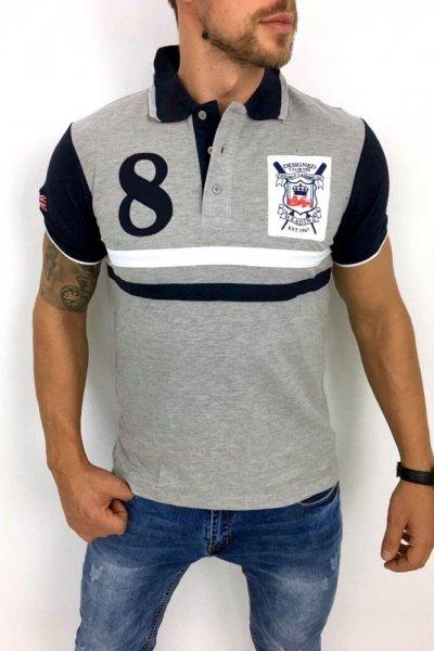 T shirt Polo 8 szary