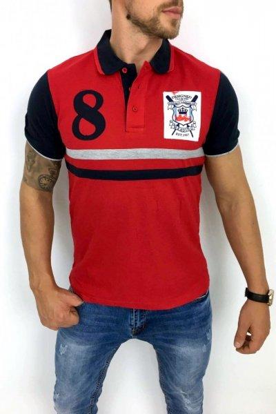 T shirt Polo 8 czerwone