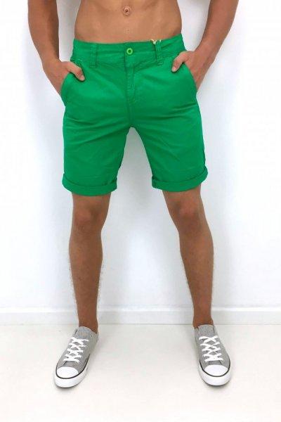 Spodenki męskie materiałowe - zielone
