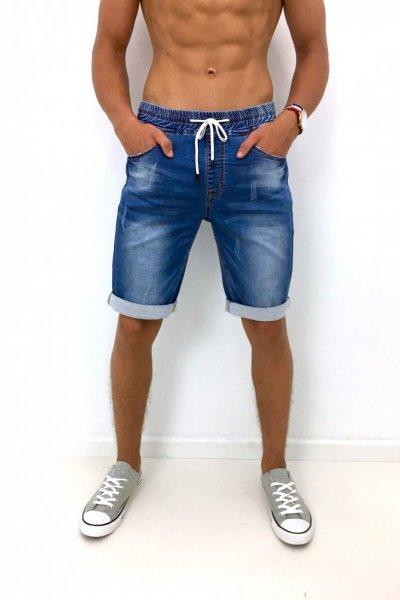 Spodenki męskie jeans - blue
