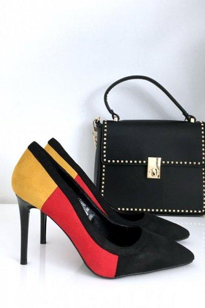 Pantofle na szpilce - 3 kolory