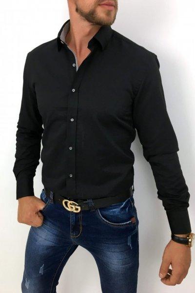 Koszula czarna + wzór