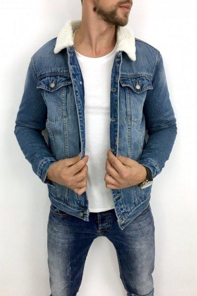 Kurtka Jeans z futerkiem VJ210-1