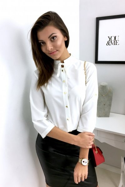 Bluzka koszulowa VIOLA - ecre