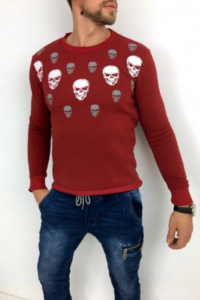 Bluza skull czerwona