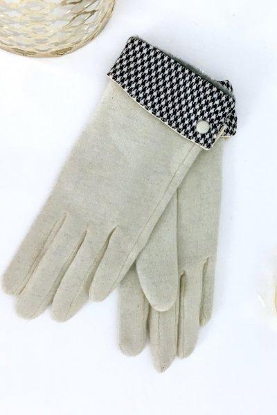 Rękawiczki pepitka - ecre