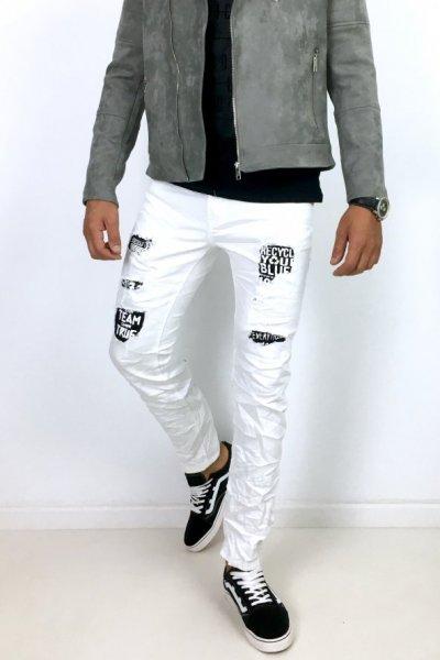 Spodnie jeans białe E6698