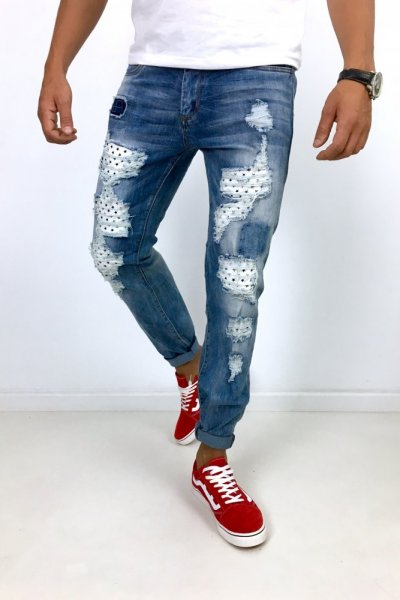 Spodnie jeans TQ2659-2