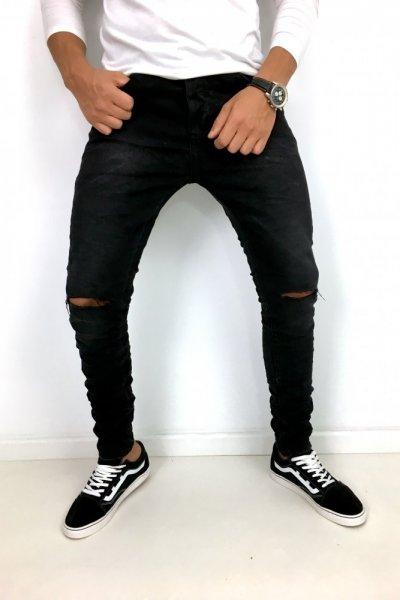 Spodnie jeans z przetarciem K540