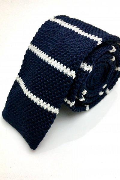 Krawat typu KNIT granat