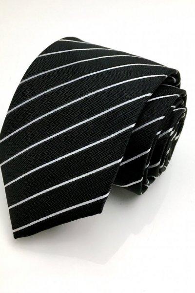 Krawat czarny w paski