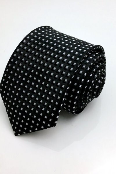 Krawat czarny wzór