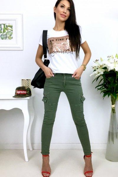 Spodnie bojówki khaki ( FIRE CY -B1136 )