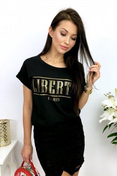 T - shirt LIBERTE Paris - black