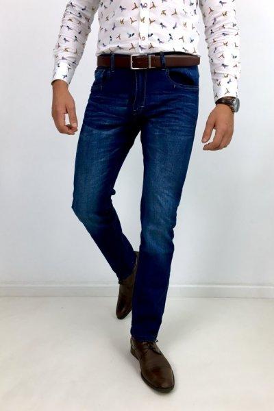 Spodnie jeans prosta nogawka SM1861