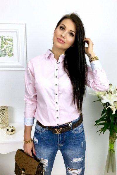 Koszula TOMMY paski - pink