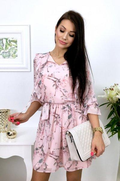 Sukienka KATRINA szyfon - pink