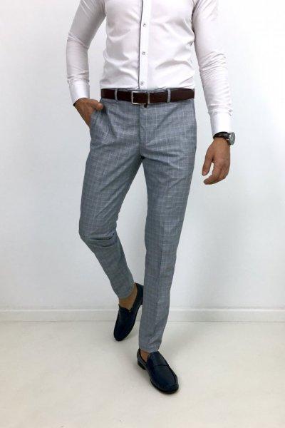 Spodnie materiałowe H12 szare