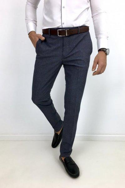 Spodnie materiałowe w kratę H11