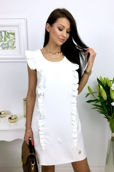 Sukienka STRIPES - ecru