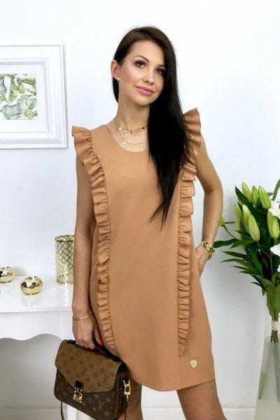Sukienka STRIPES - camel
