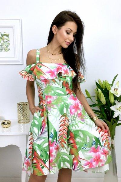 Sukienka MARYLIN - liście green