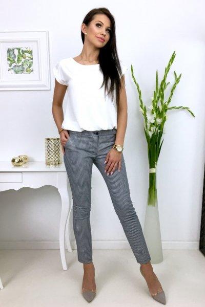 Spodnie cygaretki w kant - wzorek