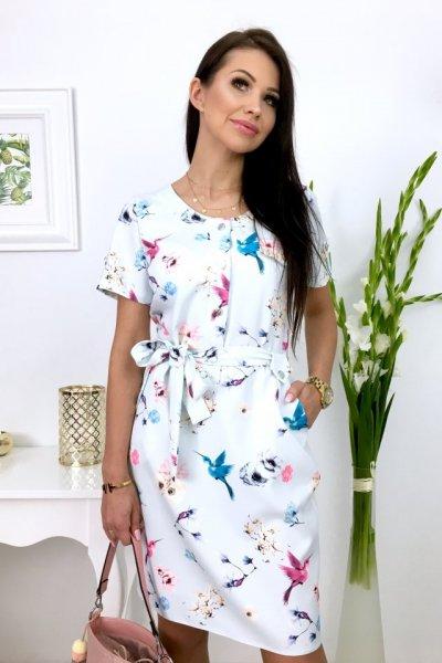 Sukienka VIOLA BIRDS - blue