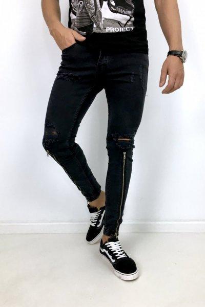 Spodnie jeans + zamki