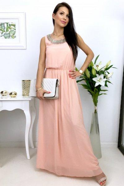 Sukienka MAXI elegant - pink