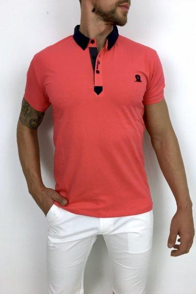 T shirt Polo H2 łososiowa