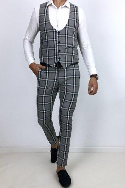 Komplet Huzar H1 spodnie + kamizelka