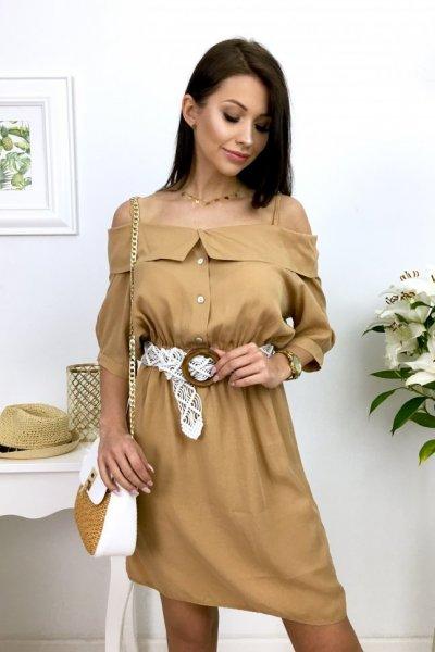 Sukienka LUISA - camel