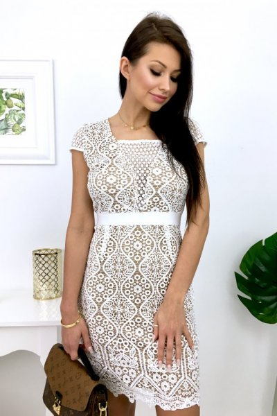 Sukienka ODREY - white/beige