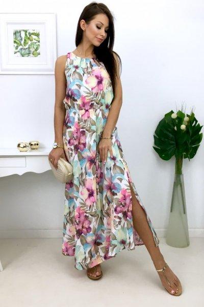 Sukienka MAXI streffa flowers