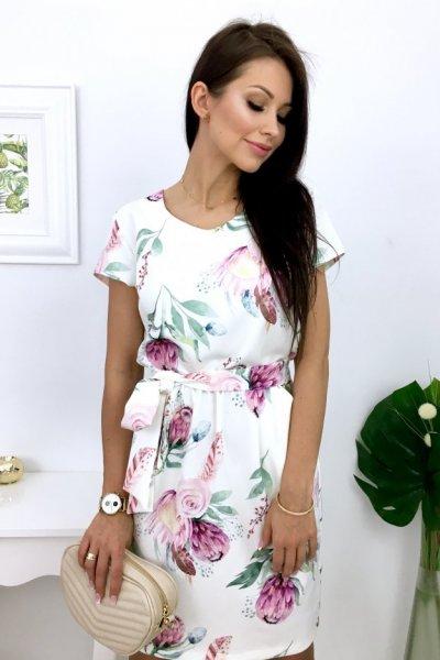 Sukienka Blanca + pasek - wzór