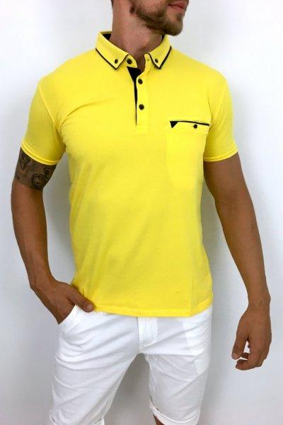 T shirt polo Żółty 01