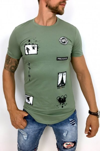 T shirt Paris BMT337 khaki
