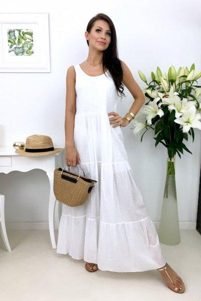 Sukienka MAXI MIAMI - white