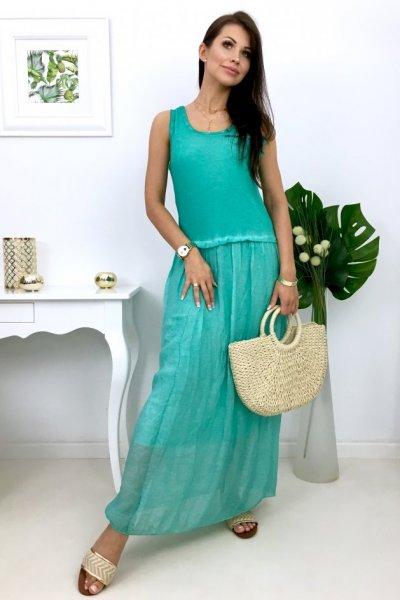 Sukienka ROMANTICA maxi - turkus