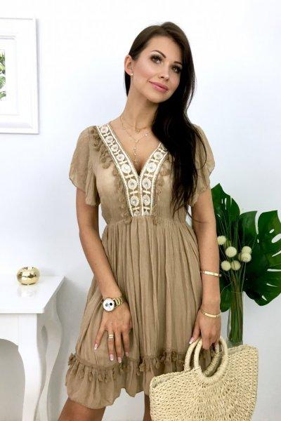 Sukienka BOHO CHIARA - beige
