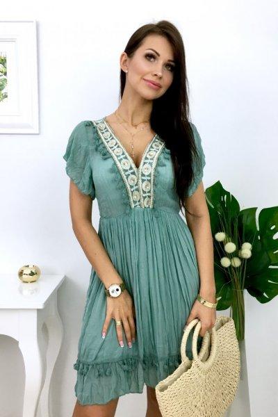 Sukienka BOHO CHIARA - blue