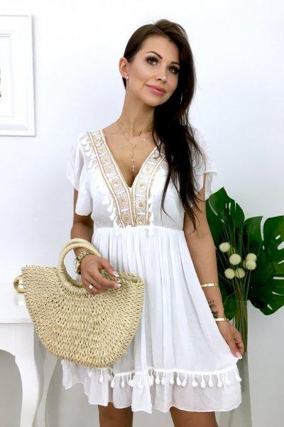 Sukienka BOHO CHIARA - white