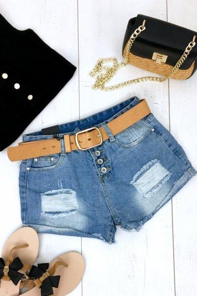 Szorty jeans DESAY ( 2406 ) - blue