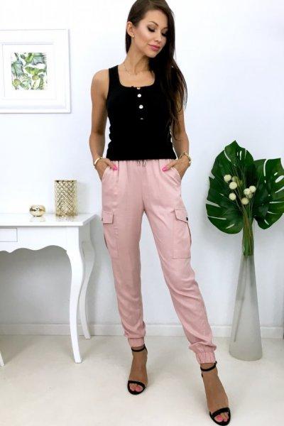 Spodnie bojówki CESS- pink