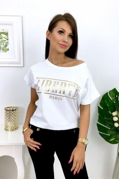 T - shirt LIBERTE Paris - white