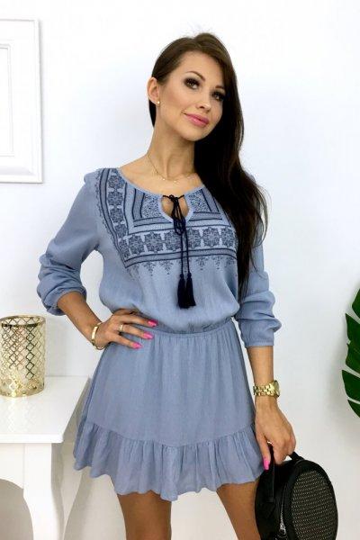 Sukienka/tunika ETNO - blue
