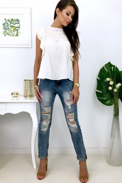 Spodnie jeans BOYFRIEND ( A62-77 )